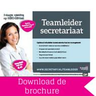 Download brochure Teamleider Secretariaat