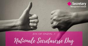 Nationale Secretaresse Dag: zin of onzin