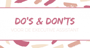 Do's en Don'ts - Executive Assistant