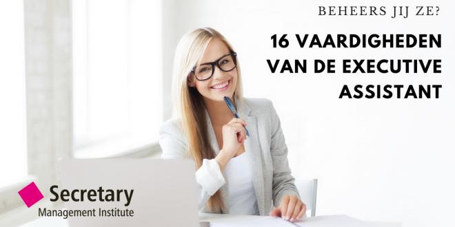 16 vaardigheden van de executive assistant