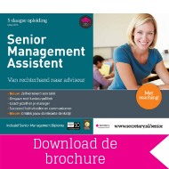 Download brochure Senior Management Assistent