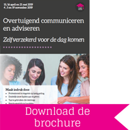 Cursus overtuigend communiceren en adviseren: download brochure