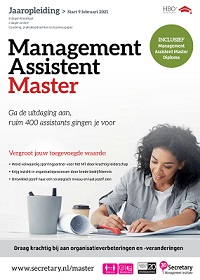 Management Assistent Master - jaaropleiding HBO+ niveau