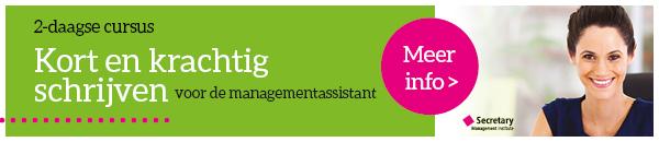 Cursus Kort en krachtig schrijven voor de senior managementassistent