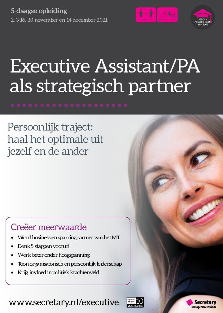 Opleiding Executive Assistant/PA als strategisch partner