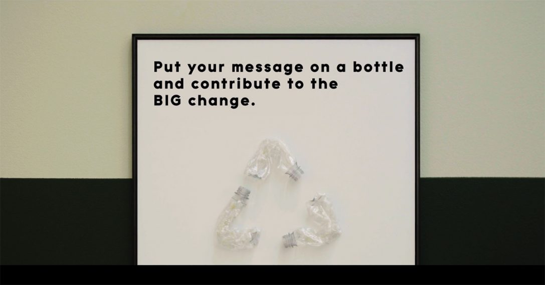 Your message on a bottle?